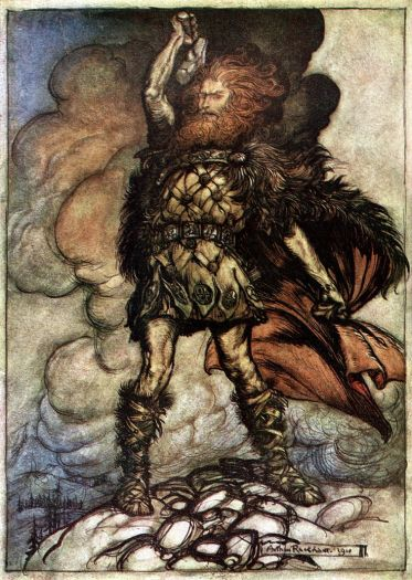 Arthur Rackham's depiction of Donner.